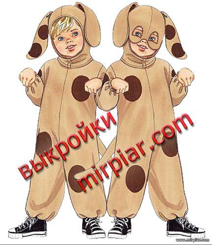 карнавальные костюмы, детские выкройки, детский маскарадный костюм, free pattern, костюм собаки, pattern sewing, Новый год, выкройки бесплатно, выкройки скачать, шитье
