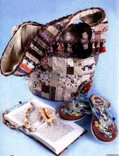 Выкройка сумки и инструкции.  Сумка - торба Отличная сумка, и не только...