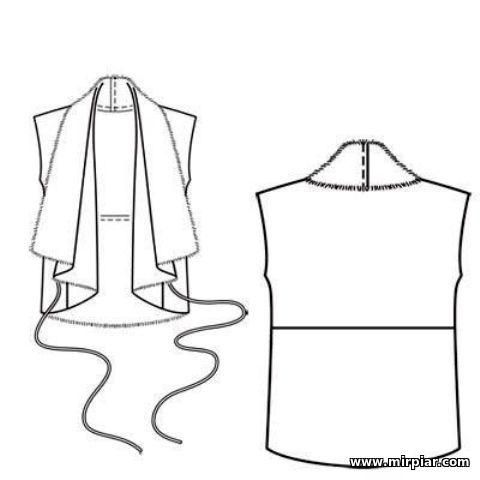 free pattern, жакет, меховый жилет, pattern sewing, выкройка жакета, выкройки скачать, шитье, готовые выкройки, выкройки, выкройки бесплатно