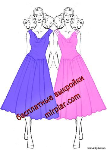 вечернее платье с драпировкой качели