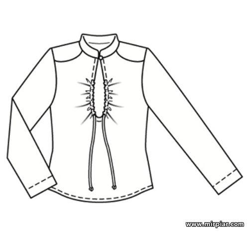 pattern sewing, free pattern, блузка с вырезом капелькой, выкройки скачать