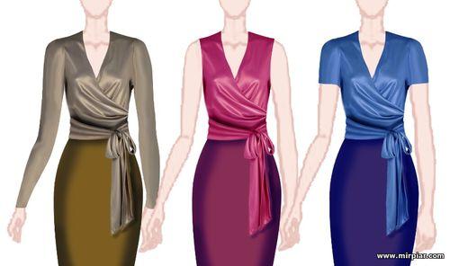 Выкройка блузы без рукавов 44 размера