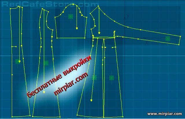 скачать бесплатные выкройки платья и блузы большого размера