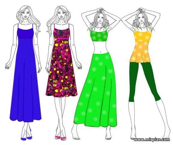 бесплатные выкройки платья или сарафана