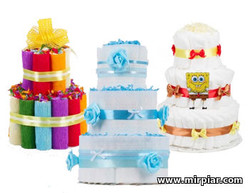 Тортики из памперсов