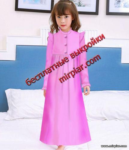 ночная рубашка для девочки выкройка