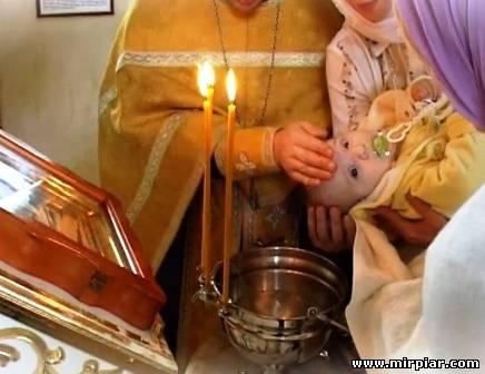 Крещение ребенка, крестные родители