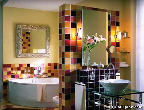 акриловаяванна в интерьере ванной комнаты