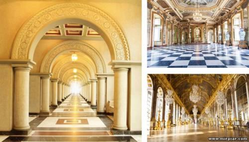 фотообои с перспективой, интерьер, расширить пространство