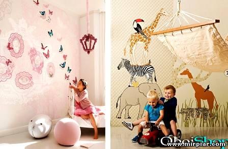 интерьер детской, обои для детской