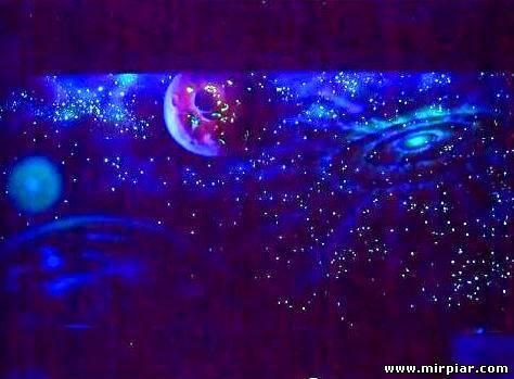 интерьер Потолок Звездное небо