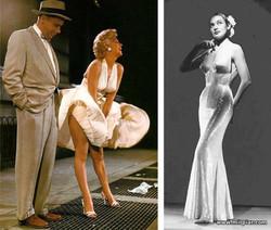 платья в стиле nude Марлен Дитрих и Мэрилин Монро, стиль nude, Марлен Дитрих, Мэрилин Монро