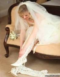 кружевные свадебные сапожки