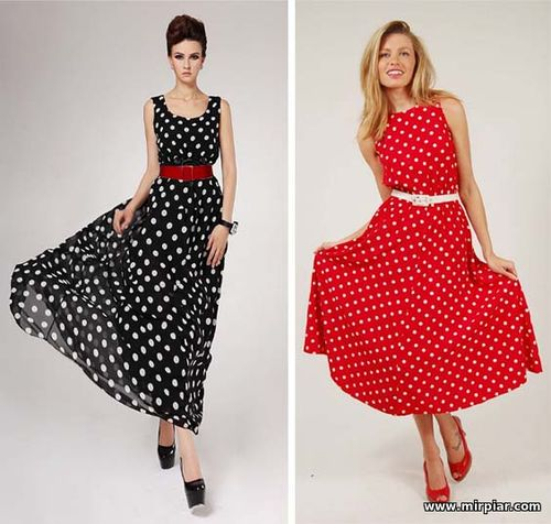 платье в горошек, как носить платье в горошек, имидж, стиль
