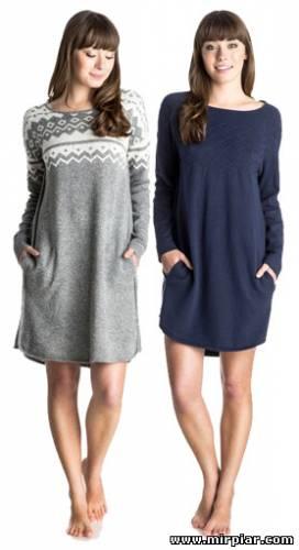 модное платье-свитер