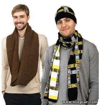 мужской шарф и пуловер