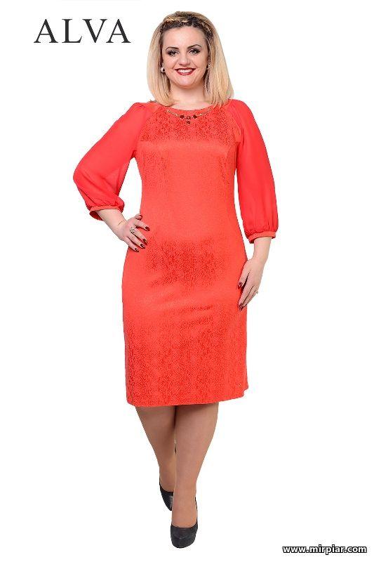Платье Алва Жизель красного цвета