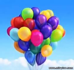 салют из воздушных шаров