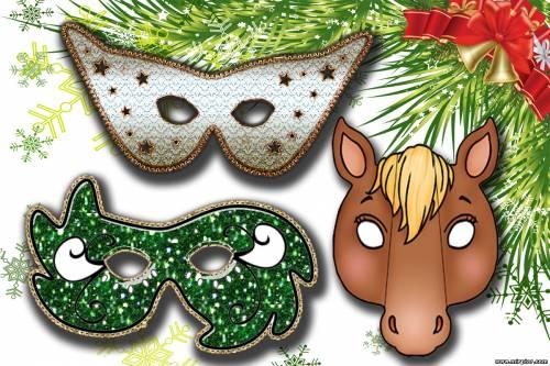 новогодняя маска Лошади