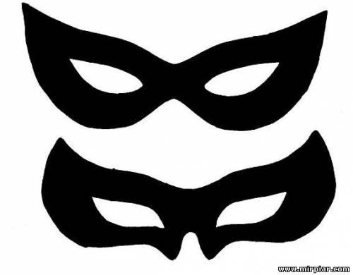 Новогодняя маска змеи выкройка 2
