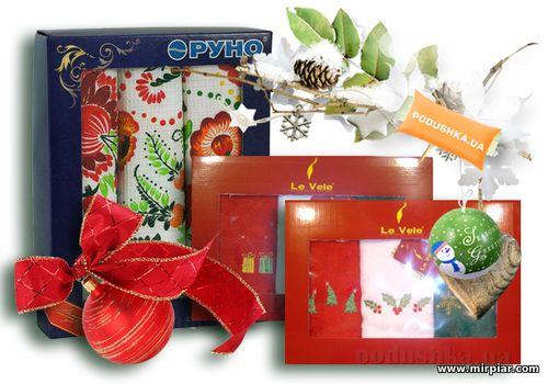 подарки, подарки к Новому году, домашний текстиль, кухонные полотенца, подарочный сертификат