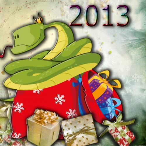 Новый год Змеи картинки