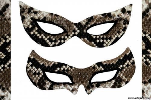 Новогодняя маска змеи выкройка 4
