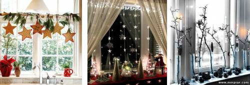 как украсить окна к Новому году