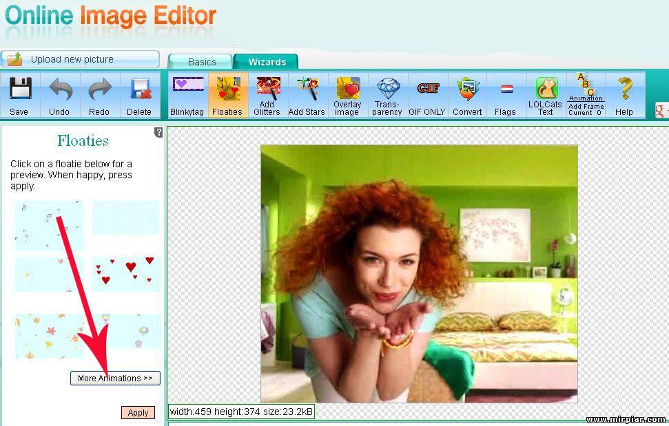 Как сделать анимированную картинку в онлайне