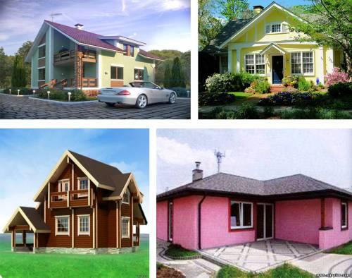 фото цвет фасада дома: