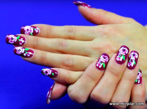 курсы маникюра, художественная роспись ногтей, акриловая лепка