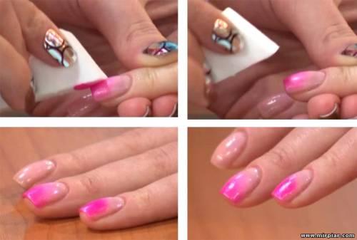 Как сделать градиентный маникюр